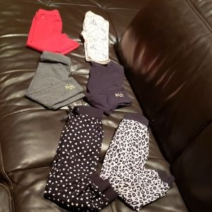 Lot of 6 leggings, capris and cuffed pants size 3T
